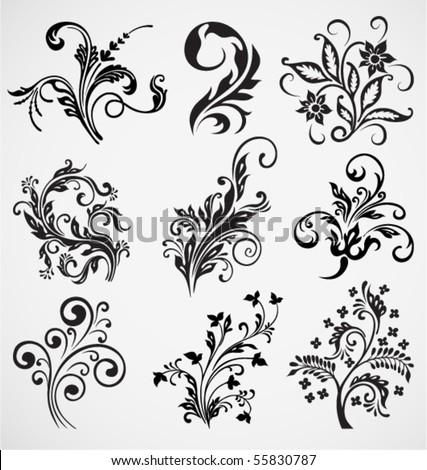 flower ornament vector pattern - stock vector