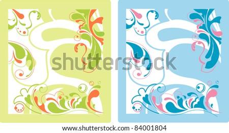 flower ornamental bright  background vector - stock vector