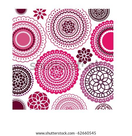flower pattern background (remove clip masks for full flowers - stock vector