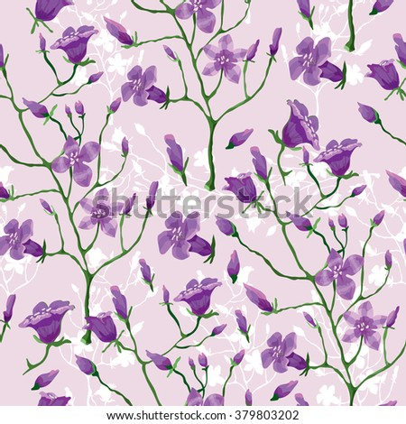 Flower pattern. Beautiful vintage seamless pattern for retro wallpapers. Purple flowers. Abstract background with flowers. Abstract background with flowers. Vector - stock vector