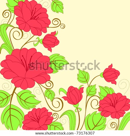 Flower pattern for design as a background. Jpeg version also available in gallery