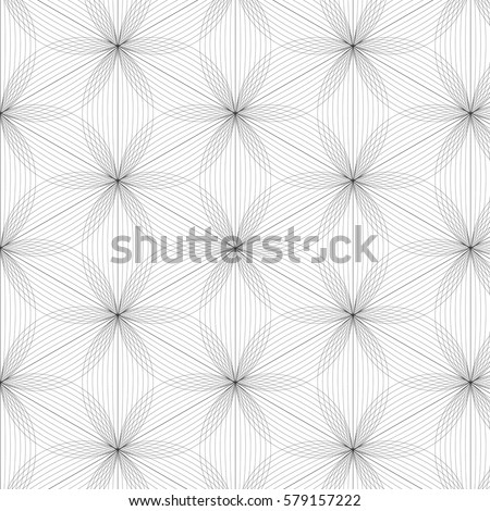 flower pattern vector, black line graphic pattern abstract vector background. Modern stylish texture.