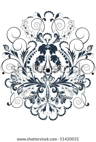 Flower patterns and borders for design and ornate - stock vector