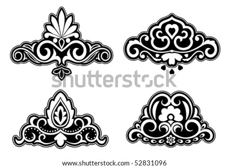Flower patterns and borders. Jpeg version also available in gallery - stock vector