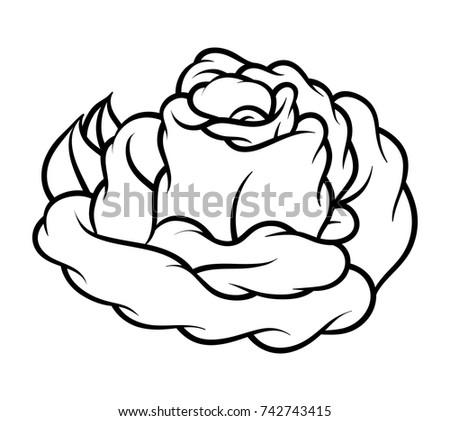 Flower rose black white isolated on stock vector 742743415 flower rose black and white isolated on white background vector illustration mightylinksfo