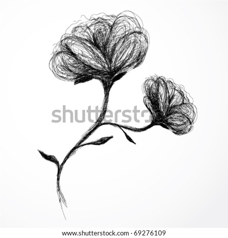 Flower Rose / realistic sketch (not auto-traced)