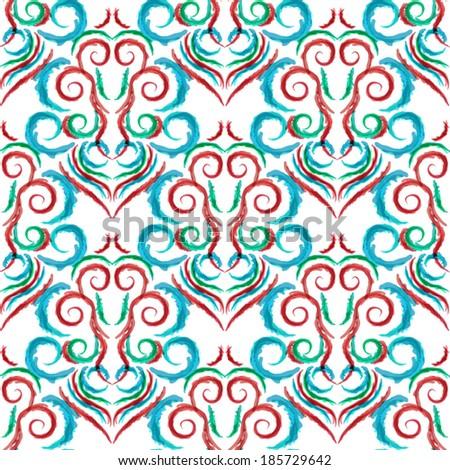 flower seamless background.damask pattern.floral wallpaper - stock vector