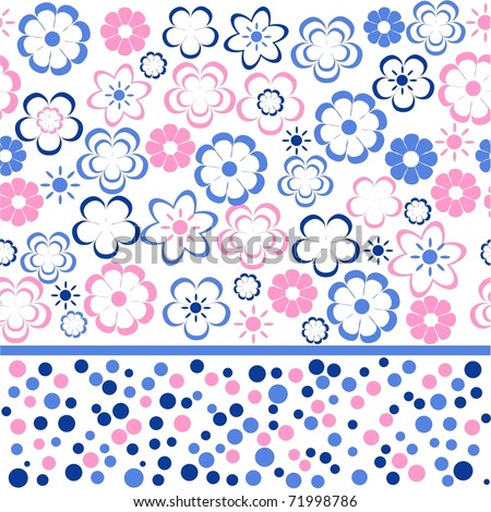 flower seamless background design - stock vector