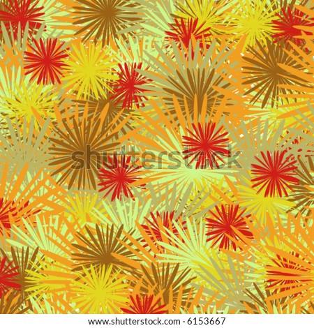 flower seamless background - vector - - stock vector