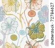flower seamless pattern - stock vector
