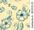 Flower seamless pattern - stock photo
