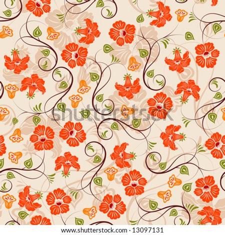 Flower seamless pattern, element for design, vector illustration - stock vector