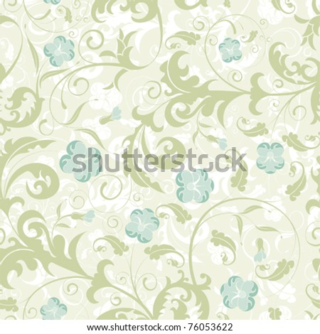 Flower seamless pattern with bud, element for design, vector illustration - stock vector