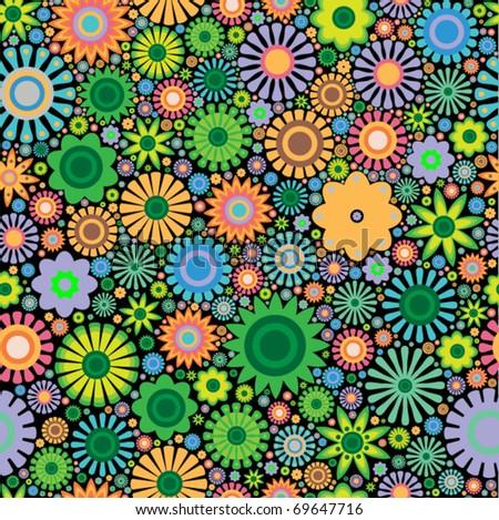 flower seamless wallpaper - stock vector