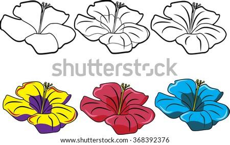 flower set 3 - stock vector
