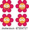 Flower smiles - stock vector