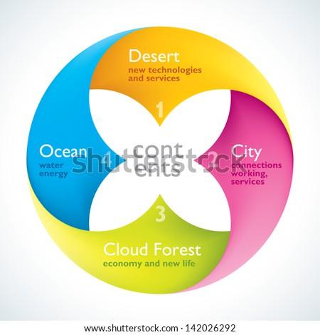 Flower Style Infographics - stock vector