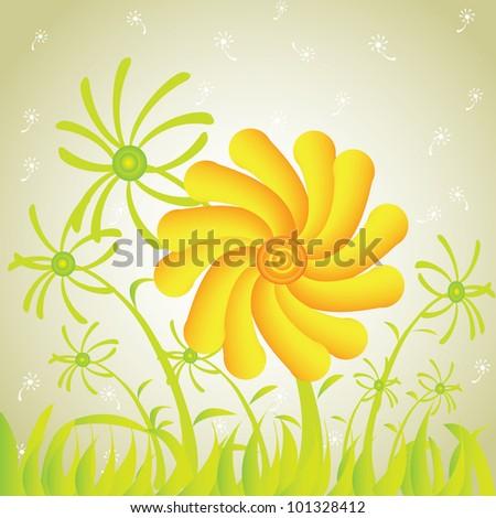 Flower,Vector - stock vector
