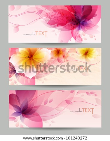 Flower vector background brochure template. Vector design . - stock vector