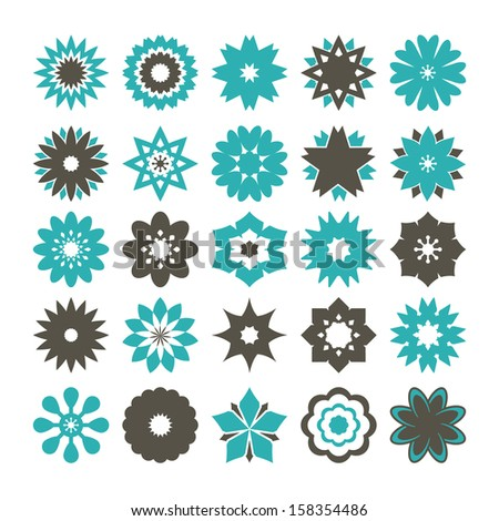 Flower Vector - Color - stock vector
