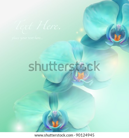 Flower vector spa background - stock vector