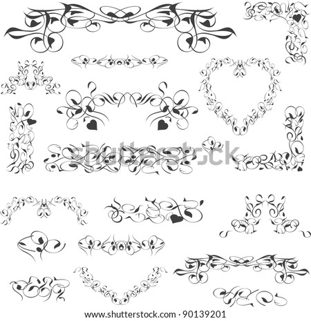flower vintage royal design element isolated on white. Vector illustration - stock vector