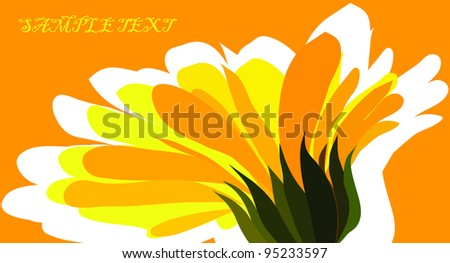 flower, yellow - stock vector