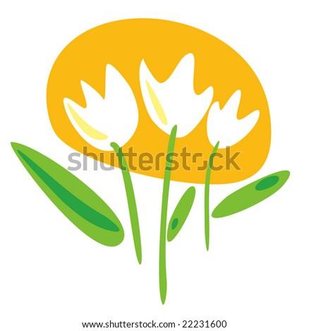 Flowers - stock vector