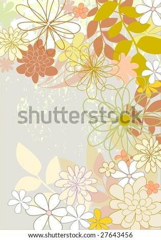 flowers 2 - stock vector