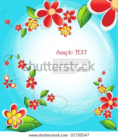 flowers and place for text