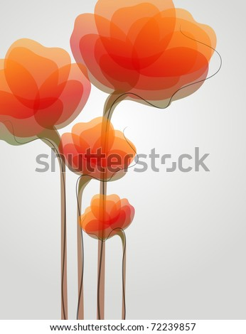 Flowers. Colorful backgrounds. Vector illustration. - stock vector