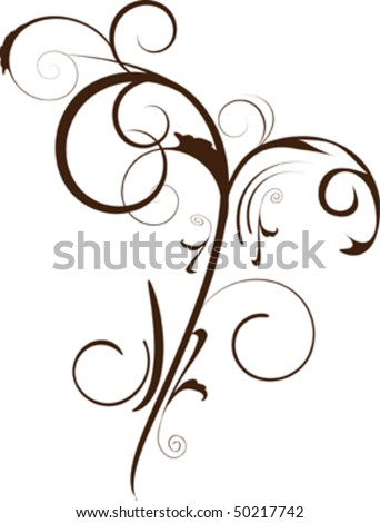 flowers decoration isolated on white