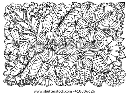 doodle art for coloring book - Doodle Art Coloring Book