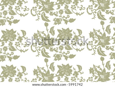 flowers ornament - stock vector