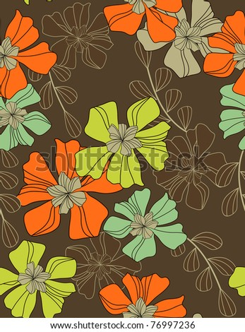 flowers - pattern seamless - stock vector