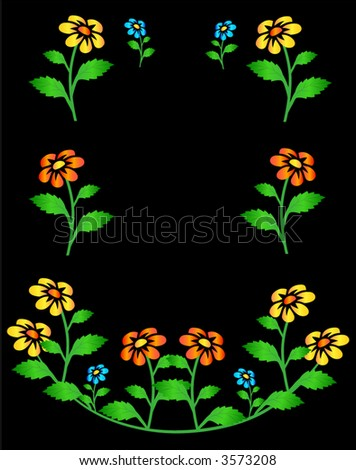 Flowers postcard - stock vector