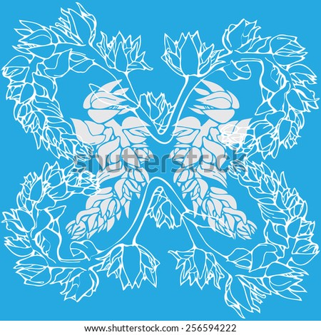 Flowers seamless background pattern - stock vector