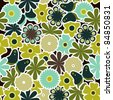 flowers seamless pattern - stock vector