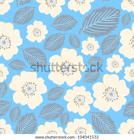 Flowers - seamless pattern - stock vector