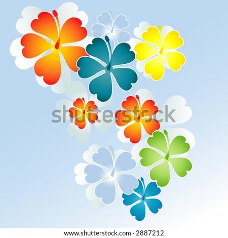 flowers vector - stock vector