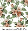 Flowers. Vector. Beautiful background with a flower ornament. - stock vector