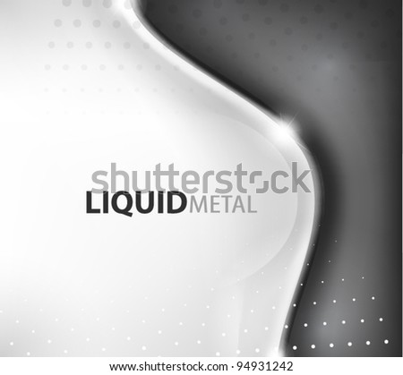 Flowing liquid metal background - stock vector