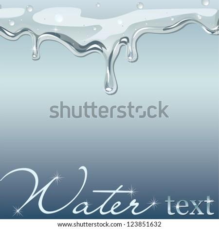 flowing water vector - stock vector