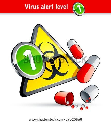 Flu Virus alert number one - stock vector
