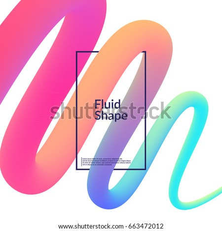 Fluid color background. Liquid shape on white. Eps10 vector.