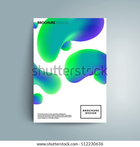 Fluid colors cover design. Fluid shapes with hipster colors. Applicable for banner,cover,poster. Eps10 vector template.