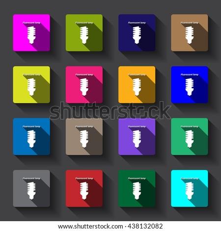 fluorescent lamp  Icon, fluorescent lamp Icon Vector, fluorescent lamp Icon JPG, fluorescent lamp Icon JPEG, fluorescent lamp Icon EPS, fluorescent lamp Icon design - stock vector