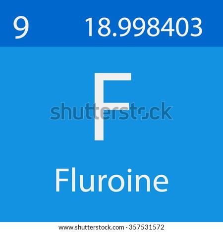 Fluorine Chemical Symbol Stock Vector 357531572 Shutterstock