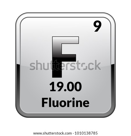 Fluorine symbolchemical element periodic table on stock vector fluorine symbolemical element of the periodic table on a glossy white background in a urtaz Image collections