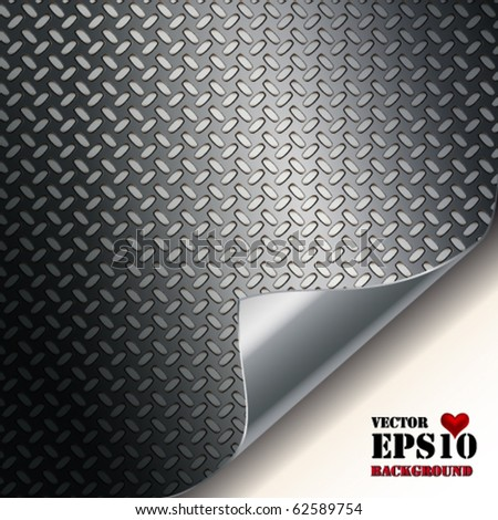 Fluted metal texture. Vector Illustration - stock vector